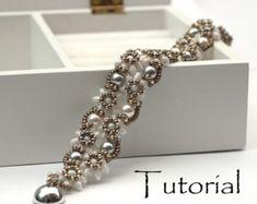Beading Pattern Beading Tutorial for bracelet Carré by PrettyNett
