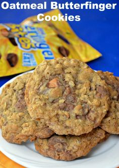 Oatmeal Butterfinger Cookies. Awesome cookie recipes to try!