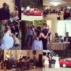 Najbardziej spontaniczna decyzja roku. Dzięki wielkie dla Magdy i Grzesia <3 oraz grupy dyskusyjno-imprezowej ;-) #weeding #wesele #beautifulcouple #whitedress #blacksuit #redcar #weekendparty #flowers #wreathhair