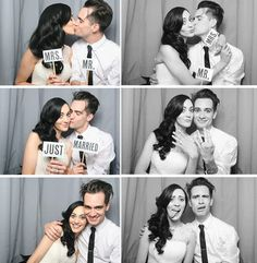 brendon urie and sarah orzechowski 2014 Emo Bands, Music Bands, Brendon Urie Wedding, Brendon Urie Wife, Brendon Urie Funny, Wedding Photo Booth, Wedding Photos, Wedding Stuff, We Will Rock You