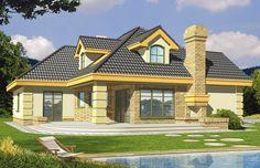 Projekt domu HR Lawenda wersja A z piwnicą - DOM TZ8-90 - gotowy projekt domu Model House Plan, My House Plans, Bungalow House Design, Home Fashion, Future House, Sweet Home, How To Plan, Mansions, House Styles