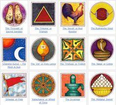 Endearing images embodying intuitions of the spirit that adorn Hindu art, architecture and iconography. Hindu Symbols, Sacred Symbols, Holy Lance, Hinduism History, Nataraja, Hindu Art, Worship, Folk Art, Rooster