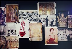 The moodboard for the Dolce & Gabbana Fall/WInter 2013-2014 collection.