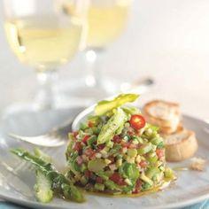 Tartar + + asparagus and avocado + - My CMS Raw Food Recipes, Veggie Recipes, Cooking Recipes, Healthy Recipes, Ceviche, Gazpacho, Vegan Vegetarian, Vegetarian Recipes, Avocado