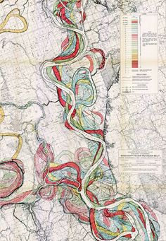 River Meander Map: This is one of my favorites. I would LOVE to get my hands on the real thing!