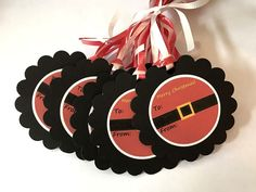 Santa Christmas Tags Labels Holiday Gift Tags Canning Treat Wine Cookie Food Tag #Handmade #Christmas