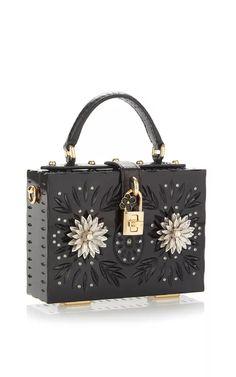 Embellished Plexi Mini Dolce Bag by Dolce & Gabbana for Preorder on Moda Operandi