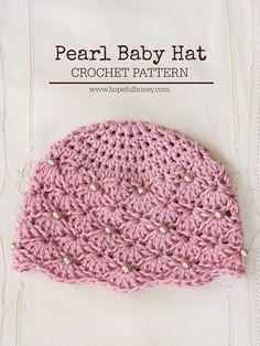 Ravelry: Vintage Pearl Baby Hat pattern by Olivia Kent Crochet Baby Hats Free Pattern, Crochet Baby Beanie, Crochet For Kids, Diy Crochet, Vintage Crochet, Baby Knitting, Crochet Patterns, Crochet Hats, Potholder Patterns