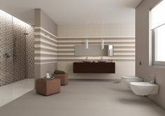 Contemporary bathroom in shades of taupe