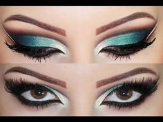 Make Up Artist Blue and Green Can easily be a Cleopatra halloween look by exaggerating the eyeliner,