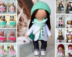 Textile doll Fabric doll Summer doll Handmade doll Green doll Soft doll Cloth doll Baby doll Fabric doll Rag doll Art doll by Yulia G __________________________________________________________________________________________    Hello, dear visitors!  This is handmade soft doll created by Master Yulia G. (Moscow, Russia). Doll is 26 cm (11 inch) tall and made of only quality materials.  This doll is made TO ORDER. You will receive almost exact same toy with slight changes. Any exact changes…