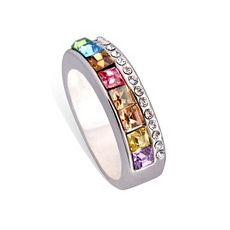 Multicolor Wide Band Ring