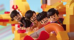 John Paul George And Ringo Battle A Sea Monster In Their LEGO Yellow Submarine