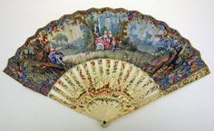Fan: ca. 18th century, French, paper, ivory.