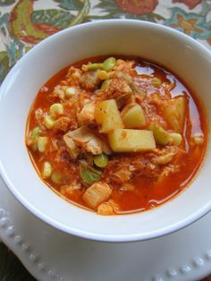Brunswick Stew | Plain Chicken...I use more broth, Italian seasoning instead of just oregano, and no sugar...
