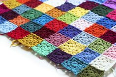 Scrap Yarn Crochet blanket! Dennis and i are working on it together! Come check our progress out at accordingtomatt.b...
