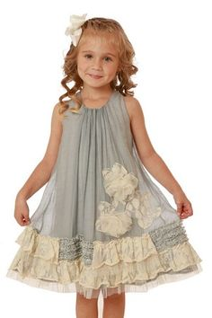 Isobella & Chloe Vicki Grey Lace Dress