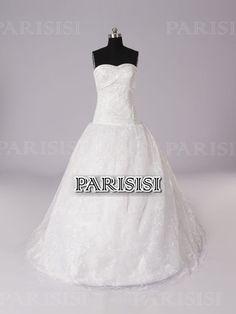 Vestido de fiesta Corazón Tren Cepillo Blanco vestidos de novia