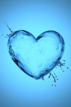 Wallp for iPhone Heart Iphone Wallpaper, Love Wallpaper, Cellphone Wallpaper, Water Images, Water Pictures, Blue Wallpapers, Wallpaper Backgrounds, Heart Art, Love Heart