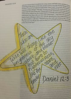 "Daniel 12:3. Bible Journaling. The real ""stars"" will be in Heaven!"