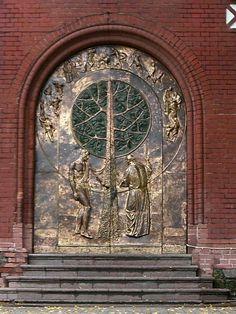 Doors of the brick church   Flickr - Photo Sharing!