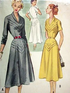 Now THIS is #vintage! McCalls Dress Pattern No 9212 VIntage 1950s by #CaliforniaSunset
