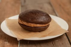 COFFEE GOB - A rich, delicate, melt-in-your-mouth gluten free and dairy free devil's food cake filled with a delicious coffee cream filling. Yum.   http://www.gluuteny.com/
