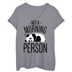 Not A Morning Person Ladies Plus Size Tee