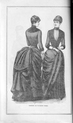 Visiting or walking dress, Peterson's Magazine, December 1888.