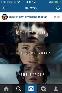 she's the tribute, mockingjay, and a the leader