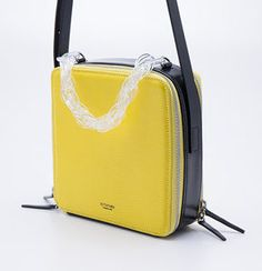 Leather: Cow leather embossed with lizard skin pattern / Lining: Natural hogskin / Size: x x / Weight: Hunter S, Lemon Yellow, Cow Leather, Fashion Bags, Gym Bag, Moon, Cool Stuff, Collection, Natural