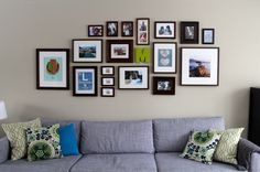 In love with this photo wall from www.everyshadeinbetween.com