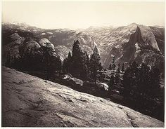 Carleton E. Watkins: View from the Sentinel Dome, Yosemite (1989.1084.1-.3) | Heilbrunn Timeline of Art History | The Metropolitan Museum of Art