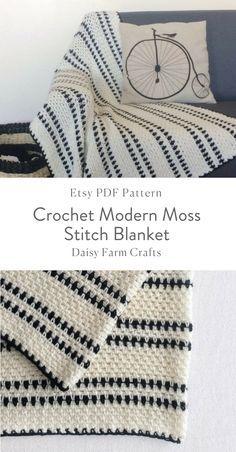 Types Of Crochet Stitches Pdf Crotchet Patterns, Crochet Stitches Patterns, Knitting Patterns, Pdf Patterns, Manta Crochet, Diy Crochet, Diy Blanket Scarf, Modern Crochet Blanket, Shrug Knitting Pattern
