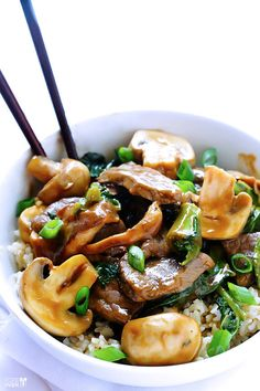 Ginger Beef, Mushroom, and Kale Stir-Fry | These 26 Recipes Will Make You Fall In Love With Kale