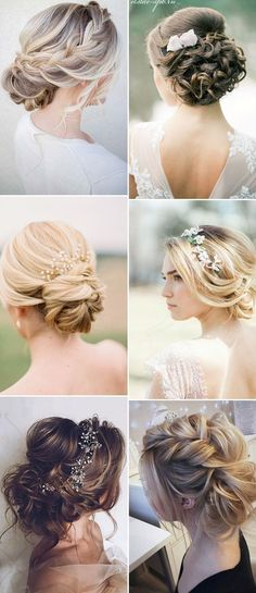 Wedding Hairstyles Updo new wedding updo hairstyles for brides 2017 - new wedding updo hairstyles for brides 2017 Source by suegiess Bridesmaid Hair, Prom Hair, Medium Hair Styles, Short Hair Styles, Bun Styles, Brides 2017, Wedding Hair And Makeup, Hair Wedding, Hair Styles For Wedding