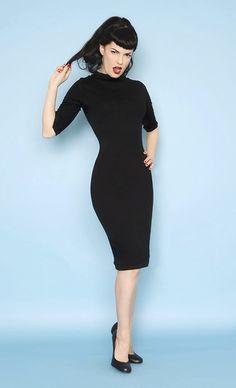 Heartbreaker 1960s Style Mod Super Spy Black Dress - XS to XL - Unique Vintage - Cocktail, Evening & Pinup Dresses