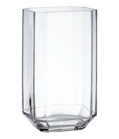 Høy vase i glass | Klart glass | H&M HOME | H&M NO