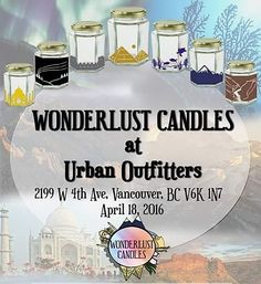 We will be selling all day at @urbanoutfitters tomorrow!! Come visit us and smell our candles. We promise you won't be disappointed   #travel #soy #candles #vancouver #global #vancitybuzz #yvr #yvrevents #wax #studentcompany #handmade #wonderlust #comfort #cozy #love #instalove #instalike #likeforlike #followforfollow #explore #tajmahal #greatwallofchina #grandcanyon #greatbarrierreef #mteverest #pyramids by wonderlustcandles http://ift.tt/1UokkV2