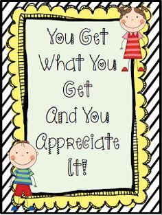 Crisscross Applesauce In First Grade: You Get What You Get...