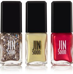 JINsoon - Nail Polish - Chinoiserie Chic Holiday Collection - Red - one size Gold Glitter Nail Polish, Cute Nail Polish, Nail Polish Sets, Polish Nails, Sparkly Nails, Winter Nail Designs, Cool Nail Designs, Formaldehyde Free Nail Polish, Couture Nails