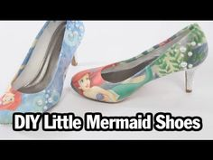 DIY Little Mermaid Shoes - YouTube