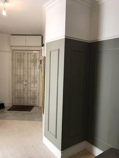 Färgkoder i vårt hem - Ellinor Löfgren Board And Batten, Wall Design, Color Mixing, Tall Cabinet Storage, New Homes, Indoor, Colours, Interior Design, Lady