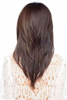 Enjoyable V Cut Hairstyle With Layers Back View Hair Pinterest Long Hairstyles For Men Maxibearus