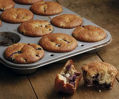 Good-For-You Blueberry Muffins by Fine Cooking
