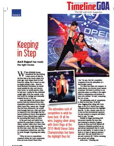 """So impressed were the judges that the famous Bollywood dance choreographer Remo D'Souza offered them a place in his upcoming film based on dance."" Read the full article in Timeline Goa Magazine Vol 2 Issue 7… Now on stands….To Subscribe Call: 8888848098 or Visit www.timelinegoa.in. #DancePlus #Salsa #TimelineGoa #Goa #GoaTimeline #Magazine #LifestyleMagazine #GoaMagazine #Volume2 #Issue7 #OnStandsNow #AvailabeOnFlipkart #AvailableOnAmazon #AvailabeOnEbay #AvailableOnMagzter…"