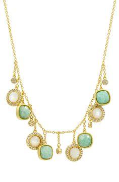 New FREIDA ROTHMAN Amazonian Allure Frontal Necklace,Gold fashion online. [$495]newoffershop win<<