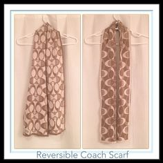 Coach Logo Reversible Gold and Cream Sparkly Scarf Sparkle this winter✨❄️✨ gorgeous, gold and cream with a hint of silver sparkle and sooo versatile. Reversible, it's two for the price of one!! Never been worn, you're sure to fall in love with this scarf Classic C logo on front and back. Coach Accessories Scarves & Wraps