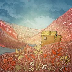 Le Chalet - mixed media - avril 2021 Mixed Media, Painting, Art, Paint, Drawing Drawing, Canvases, Art Background, Painting Art, Kunst