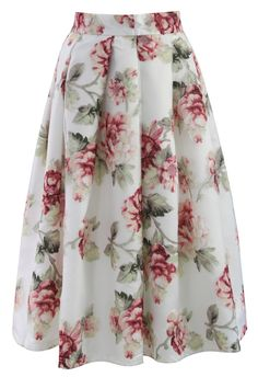 Blooming Rose Spring Cruise Midi Skirt  {buy}  wish they had a larger selection of sizes though...